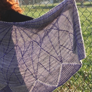 Mim in Stellate by Julie Knits in Paris in Anzula Cricket colours Prince and Seaside back PW4