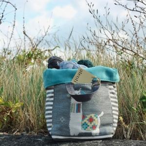 Atenti Bags Llama Blue Bucket stock PW