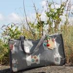 Atenti Bags Llama Grey Tote stock PW