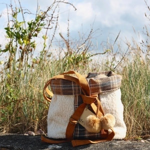 Atenti Bags Sheep Wool Backpack stock PW