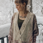 Rose cardigan by drea renee knits