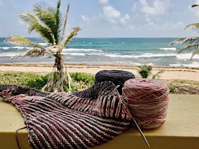 Holiday September shawl