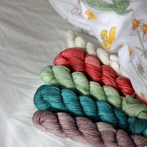Anzula Squishy Skeinettes - Knitting in the Rain 2