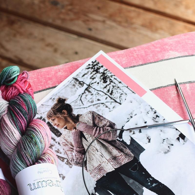 Rose Cardigan Bundle - Drea Renee Knits & Dream in Color